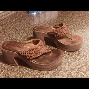 Summer Thong platform wedges Size 7.5